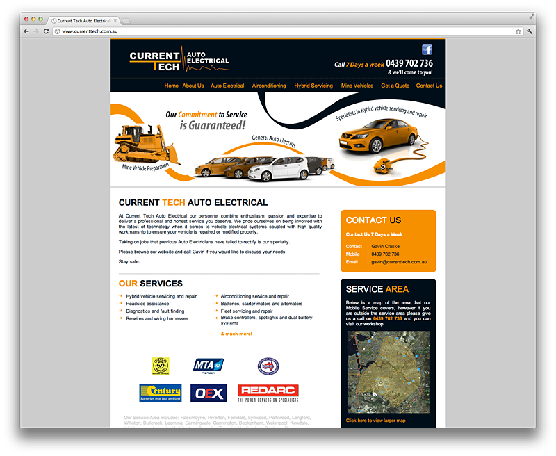 Perth Website Design – Current Tech Auto Electrician | Australian ...